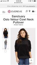 Sanctuary Oslo Velour Cowl Neck Pullover