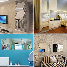 6X Removable Room Wall Mirror Stickers DIY Home Art Mural Decal Decor yxx37