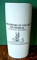 Vtg WWII Brothers In Valor Memorial Fort DeRussy Oahu Hawaii 100th Infantry Vase