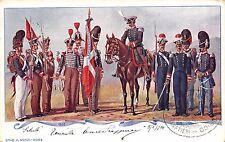2073) GRANATIERI DI SARDEGNA, UNIFORMI STORICHE DAL 1833 AL 1838. VIAGGIATA.