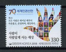 South Korea 2018 MNH Universal Declaration of Human Rights 1v Set Stamps