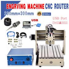 USB 3Achse CNC Router 3020 Graviermaschine Anschneiden/Mühle/Bohrer Engraver DE
