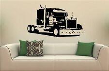 Semi Truck Eighteen Wheeler Peterbilt Wall Art Sticker Decal 6457