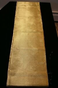 "f-981b vintage silk  and metallic obi fabric  - 12"" x 48 """