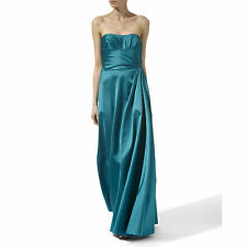 Temperley London Teal/Blue Satin Long Trema Dress SIZE UK 8 RRP £695,  ...#4