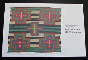 Signed Jack Silverman Litho Print Navajo Germantown Chief Blanket 1986