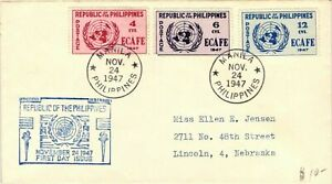1947 Republic of Philippines Economic Commission for Asia & the Far East ECAFE