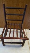 """14"""" CHAIR Rustic Wooden Brown Handmade Branch Unique DOLL/BEAR Display Play"""