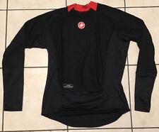 Castelli Mens Rosso Corsa Windstopper  LS Base Layer Shirt - 2XL
