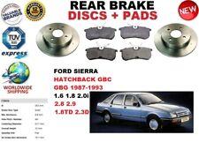 Para Ford Sierra GBC Gbg Hatchback 87-93 Juego Freno Disco Trasero + Kit