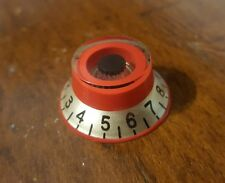 2 Guitar Top Hat volume/tone knobs. Red/Taupe/Black... JAT CUSTOM GUITAR PARTS