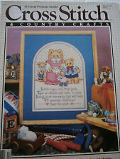 April 1989 Cross Stitch & Country Crafts Back Issue Magazine Sampler Bear Tree