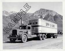 P.I.E. PACIFIC INTERMOUNTAIN EXPRESS 1948 PETERBILT 344DT 8x10 Glossy B&W Photo