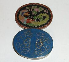 Small Cloisonne Enamel Phoenix Bird Jar Pill Box