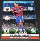 GEORGI MILANOV CSKA MOSCOU UEFA PANINI FOOTBALL CHAMPIONS LEAGUE 2014 2015