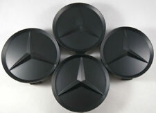 4x Wheel Center Caps Emblem Matte Black Hubcaps 64MM for Mercedes Benz