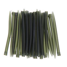 """30pcs 53mm/2.1"""" Anti Tangle Sleeve Carp Fishing Tackle Accessories Outdoor Green"""