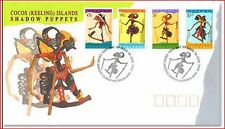 COC571001 Puppets FDC COCOS ISLANDS