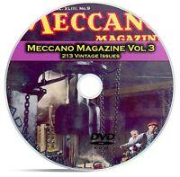 Meccano Magazine Vol 3, 213 Classic Issues, Boy Hobby Toy History Mag DVD CD C16