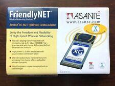 New listing Asante FriendlyNet AeroLan-Xg Wireless Networking Cardbus Adapter Al5402-Xg