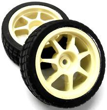 450280 1/10 échelle sur route voiture roues et pneus en caoutchouc 2 en plastique blanc