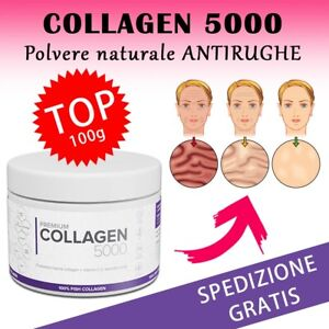 Premium Collagen 5000 collagene in polvere naturale bella pelle senza rughe 100g