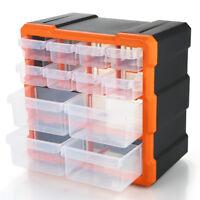 Parts Storage Box Drawer Compartments Slot Craft Hardware Tools Organizer F9D9