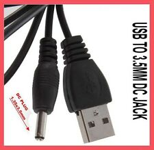 USB to 3.5mm Power Charger Cable Adapter DC 5V Supply Charge Connector Jack