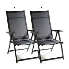 2X Heavy Duty Adjustable Reclining Folding Chair Outdoor Indoor Garden Pool