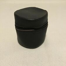 VINTAGE BLACK LEATHER CASE FOR SMALL LENS