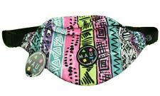 Maui and Sons Retro 80's/90's Recall Black Neon Fanny Pack Surf Travel Bag