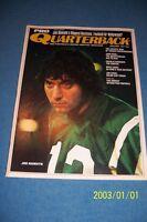 1971 Pro Quarterback NEW YORK Jets JOE NAMATH No Label FREE/SHIP Alabama Tide