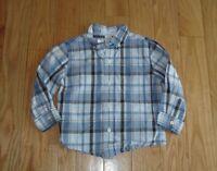 Boys JANIE And JACK Long Sleeve Plaid Button Up Dress Shirt Sz 2T