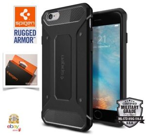 Cover per Apple iPhone 6 / 6S Custodia originale SPIGEN Rugged Armor Matte Black
