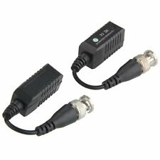 2x Video Balun BNC Cat5 Passive transmitter Two Wire for CCTV / Security C T0R7