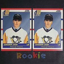 JAROMIR JAGR   RC  2 Card Lot  1990-91 Score  US  #428  ROOKIE  HOF  Pittsburgh