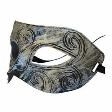 jazz Mens Mask Halloween Masquerade Masks Venetian Dance party Mask (Silver)