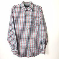 Banana Republic Slim Fit Mens Large Multicolor Check Long Sleeve Button Shirt