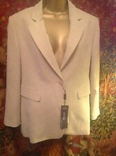 STUNNING OATMEAL COLOUR JACKET, NEW, TAILORED, SIZE  16 Fully Lined. Just Lovely