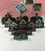 Shelia's Daisy Connection Mini-Replica Historical Wooden Houses Pick Any Two