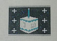 New ListingHandpainted Needlepoint Canvas Judaic Dreidel Rollup Funda Scully 4.25x3 18ct