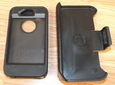 OtterBox Defender Series Black Fitted Case & Holster For iPhone 4 **READ**