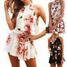 Womens Holiday Mini Playsuit Ladies Jumpsuit Summer Beach Dress Size S-XL