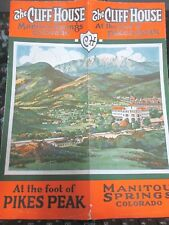1923 Cliff House @ PIKES PEAK Manitou Springs CO Brochure,Bath House Mineral H2O