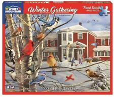 WHITE MOUNTAIN JIGSAW PUZZLE WINTER GATHERING GREG GIORDANO 1000 PCS #1316
