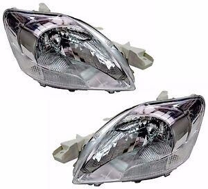 Pair Headlights For Toyota Yaris 01/06-04/16 New Sedan 08 09 10 11 12 13 15 Lamp