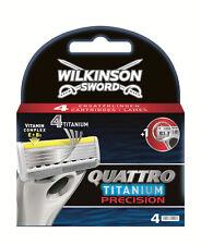 Wilkinson Sword Quattro Titan Präzision Carbon Rasierklingen 4 Packung Echt