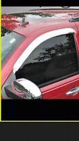 Rain Guards 2 Pcs Chrome Window Vent Visor For 2007-2013 Avalanche Only Front