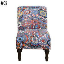 Armless Chair Slipcover Removable Printed Chair Covers for Living Room Hotel