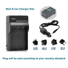 WALL& CAR Charger for Panasonic Lumix DMC-TS3 DMC-TS2  DMC-TS1 Battery
